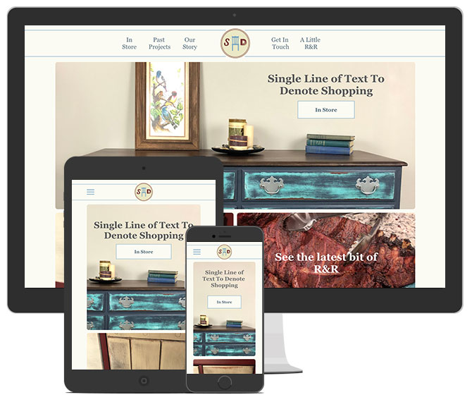 Simply Distressed Home Page UI